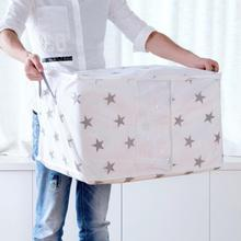 Складная сумка для хранения, складная сумка-Органайзер для одежды, одеяло, одеяло, подушка для багажа, дышащая, с 2 ручками, органайзер для шкафа