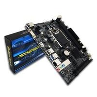 H110 Desktop PC Board Motherboard LGA1151 Support 16 Graphics Card DDR3 Upgrade USB3.0 VGA System Main Board