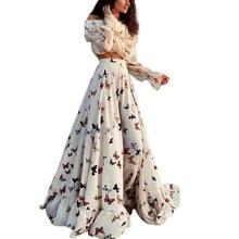 New Women Fashion Butterfly Floral Vintage Dress Spring Long Sleeve Dress Retro Beach Dresses Vestidos new fashion 2018 spring women lace dress elegnt black dress vestidos long sleeve knitted dresses female outwear hot sale lx19