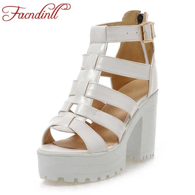 classic design 2018 new summer fashion platform gladiator sandals women  casual ladies dress black shoes woman