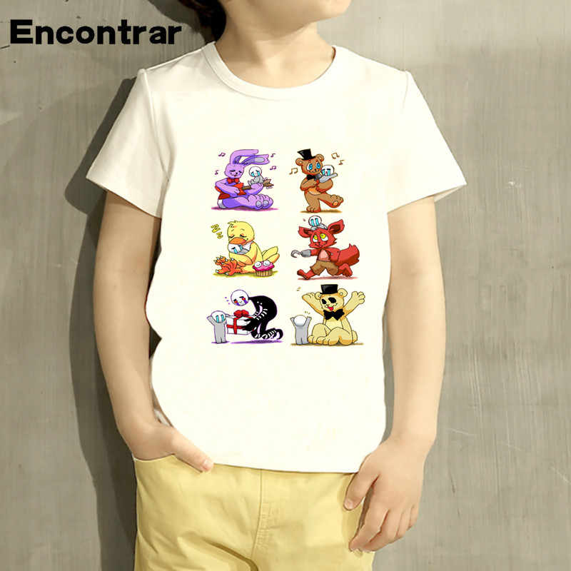 Anak-anak Lima Malam Di Freddy Fnaf Desain Bayi Anak Laki-laki Gadis TShirt Anak Lucu Lengan Pendek Anak Lucu T-Shirt,HKP4408