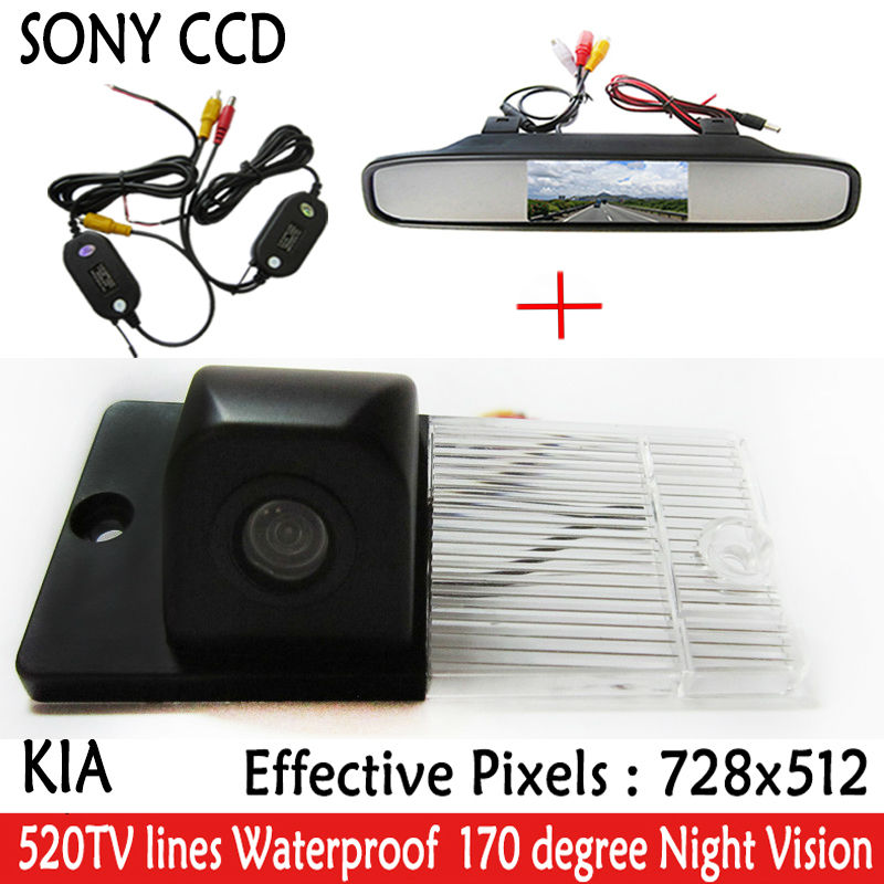 "SONY CCD HD Parking <font><b>Monitors</b></font> Night Vision Car Rear View Camera With 4.3"" Car Rearview Mirror <font><b>Monitor</b></font> <font><b>for</b></font> <font><b>KIA</b></font> SORENTO SPORTAGE"