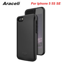 For iphone 5 Battery Case Smart Ultra thin Backup 4000 Mah Charger Cover For Apple iphone 5 5S SE Battery Case Smart Power Bank
