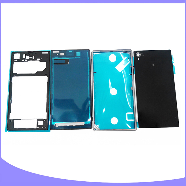 Original for Sony Xperia Z1 L39H C6902 C6903 C6906 C6916 complete full housing back case battery cover door + front plate