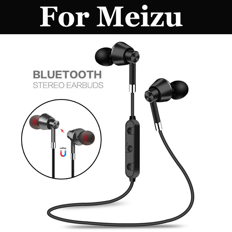 Wireless Earphone Bluetooth 5.0 Headset Sport with Mic For Meizu 7 E2 M6 Note M6s M8c 15 15 Lite M8 Note 16th 16th Plus 16 E3 X8