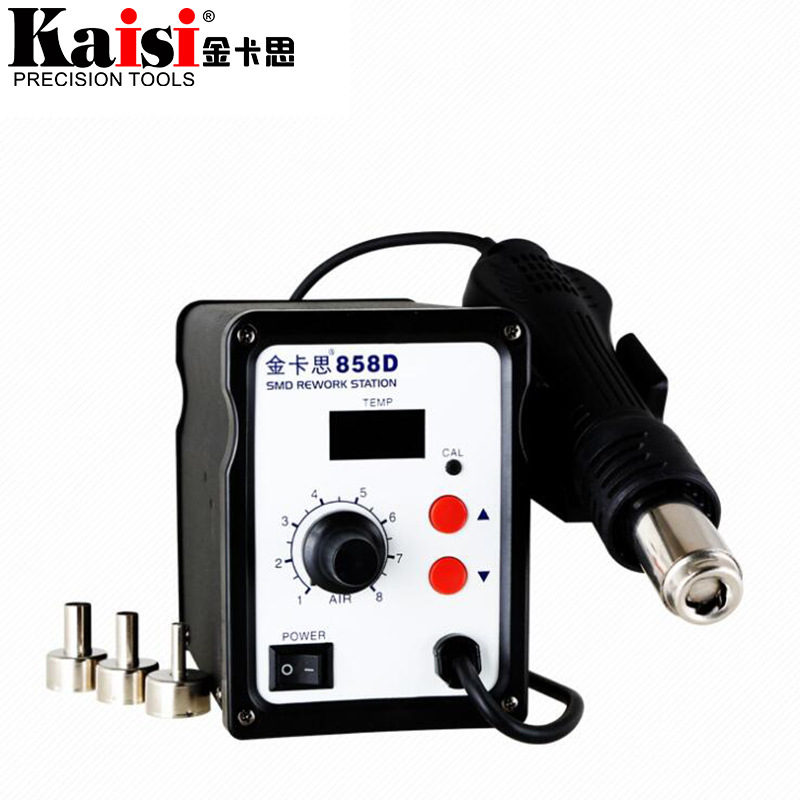 цена KAISI 858D 700W Hot Air Soldering Station LED Digital Solder Heat Gun Rework Station ESD SMD SMT Welding Repair Machine в интернет-магазинах