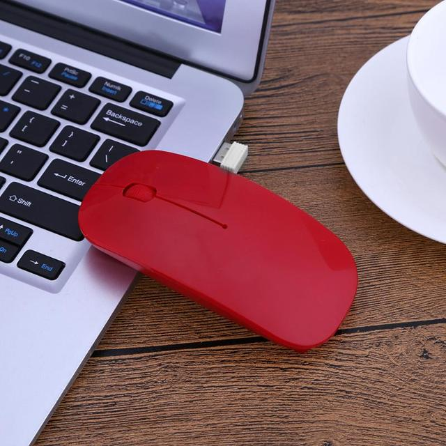 Multicolor 2.4GHz 1000DPI Ultra-thin 3-Button Wireless Photoelectric Mouse With 8-13mA 1.5-3V Wireless Receiver