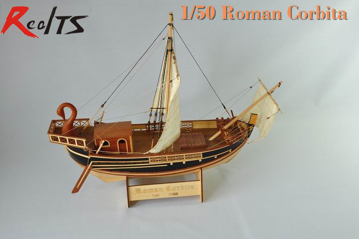 цена на RealTS Classic Roman merchant ship model the Roman Corbita Trade Boat Ostia relievo merchant ship