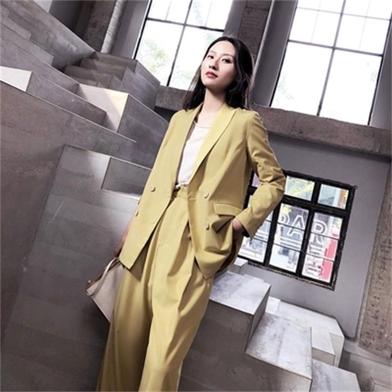 Fashion small suit suit female casual 19 spring summer New version of the British wind loose