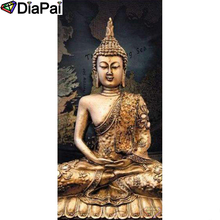 DIAPAI Diamond Painting 5D DIY 100% Full Square/Round Drill Religious Buddha Diamond Embroidery Cross Stitch 3D Decor A24862 diapai 5d diy diamond painting 100% full square round drill text moon buddha diamond embroidery cross stitch 3d decor a21533