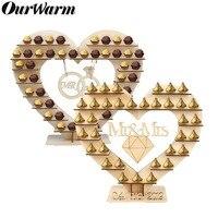 OurWarm Mr Mrs Свадебный шоколадный Сердце Дерево шоколад Ferrero Rocher Стенд Свадебный дисплей столешница конфеты бар Декор