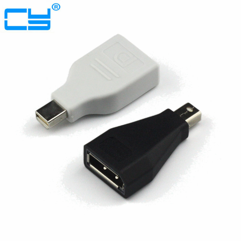Mini DisplayPort Mini DP Adapter extender Male to Displayport Female Adapter Cable for Macbook Air Pro Black & White 2 in 1 mini displayport dp thunderbolt to hdmi vga adapter connector cable line wire for apple for macbook air pro surface pro 3