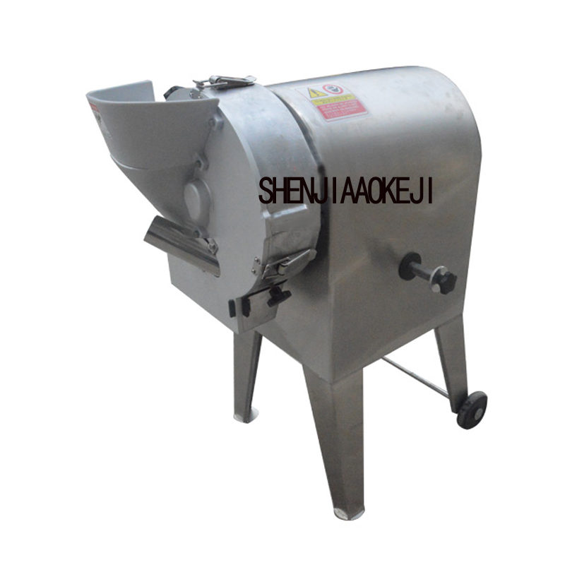 TJ-312A Vertical Stainless Steel Shred Slicing Machine Carrot Horseshoe Dicing Cutting Machine Kitchen Equipment 220V 750W 1pc
