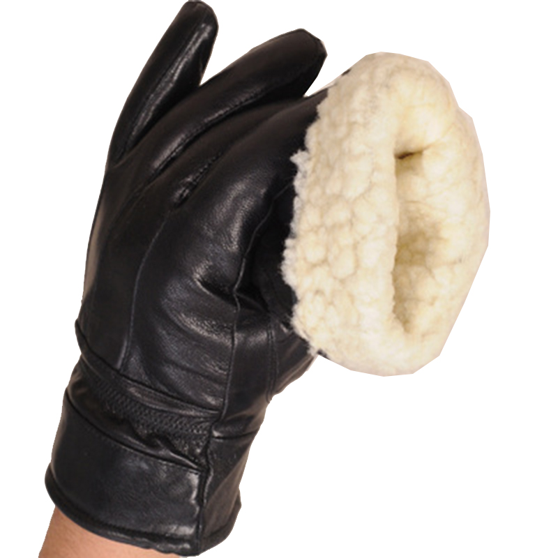 Winter Gloves Male Moto gloves Genuine Leather New Leather Gloves Warm lined Leather Thicken Mens Leather Snow Gloves Gift N6 in Men 39 s Gloves from Apparel Accessories