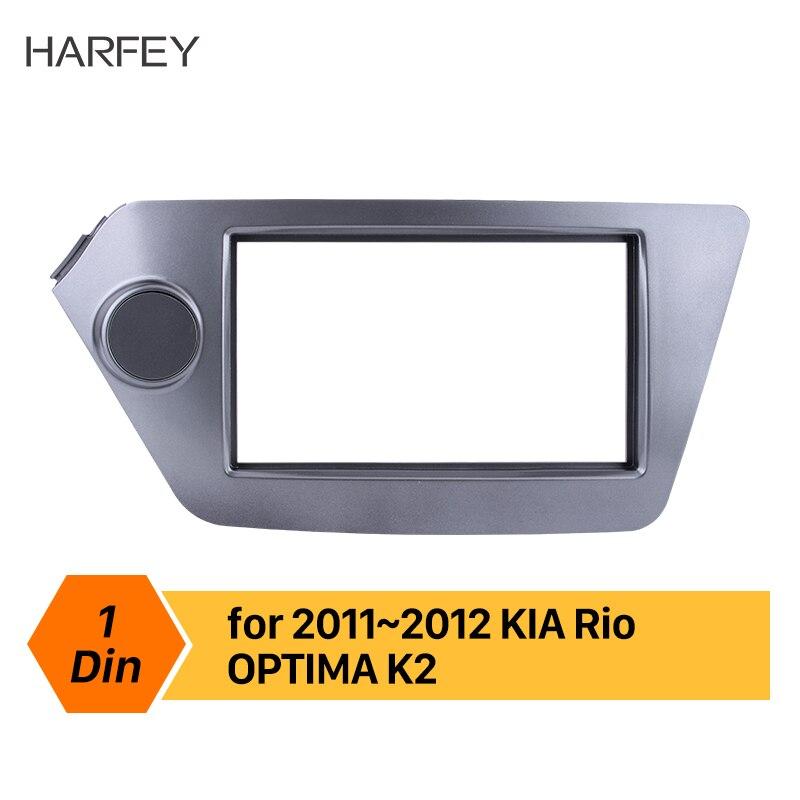 Harfey Double Din 173*98/178*100/178*102mm Refitting Kits Car DVD panel Auto Stereo frame Fascia for KIA Rio OPTIMA Cover Trim