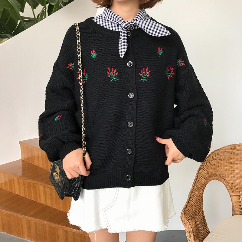 Cardigan Women 2017 Casaco Feminino Plus Size Cardigans Embroidery Sweater Mujer Poncho Knit Sweater Women Autumn Winter