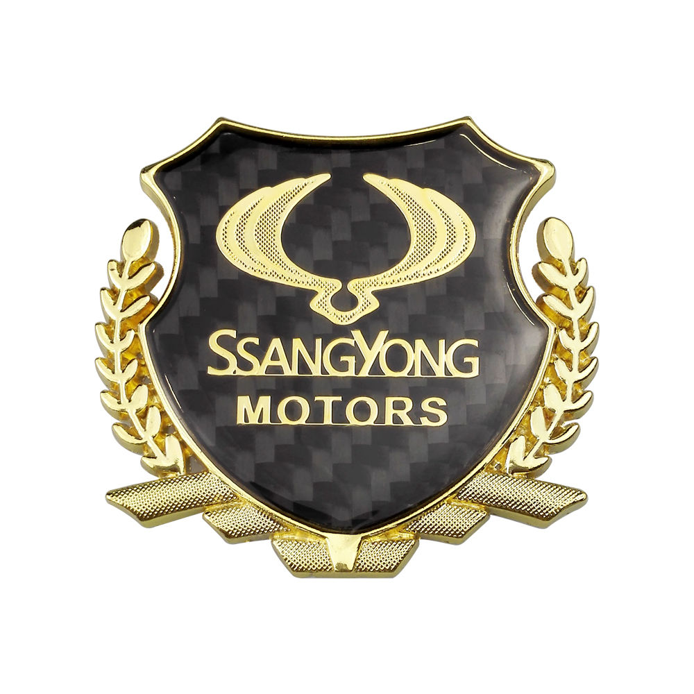 Vehicle Badage Fender Stickers Decals For <font><b>Ssangyong</b></font> Kyron Actyon Korando Rexton Chairman Tivolan Musso Rodius XLV <font><b>Tivoli</b></font> image