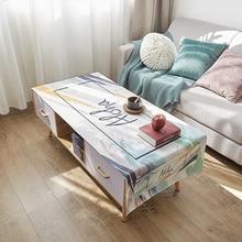 Скатерть для чайного стола с перьями, для гостиной, водонепроницаемое, прямоугольное, с принтом, скатерть для чайного стола, для защиты дома, 1 шт
