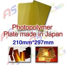 Livraison Gratuite Japon Résine Photopolymère Plaque pour Estampage À Chaud, D'affaires Japonais Résine A4 Taille