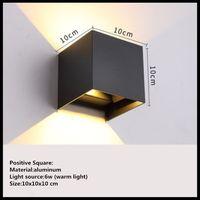야외 벽 램프 방수 크리 에이 티브 현대 미니 멀리 즘 벽 빛 계단 통로 야외 안뜰 문 발코니 led 벽 램프|LED 실내용 벽 램프|   -