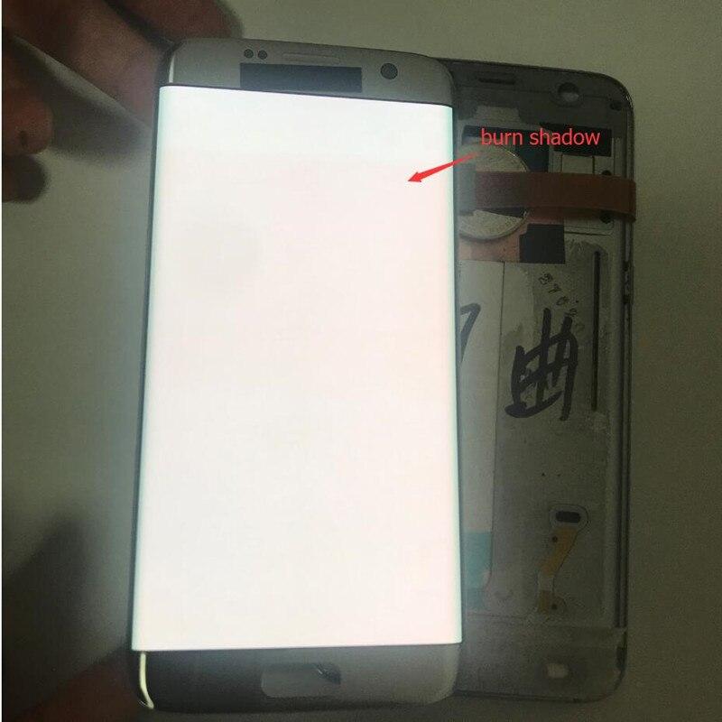 100% Test écran lcd Pour Samsung S7 bord écran lcd Pour S7 bord G935 G935F Brûler Ombre Affichage écran lcd Tactile Digitizer