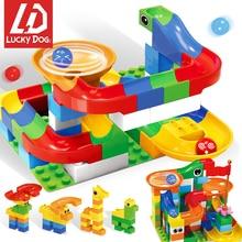 43-148PCS Marble Race Run Legoed DuploING Blocks Track Building Funnel Slide Big