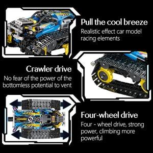 Image 5 - 391pcs Creator APP Remote Control Car Bricks Technic RC Tracked Racer Model Building Blocks Toys For Children Gift