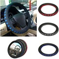 HIgh Quality EVA Punching Universal Car Steering Wheel Cover Diameter 38cm Automotive Sup 3 Colors for Choice free shipping