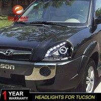 Car Styling Head Lamp case for Hyundai Tucson 2005 2009 Headlights LED Headlight DRL Lens Double Beam Bi Xenon HID Accessories