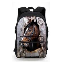 Модные 3D животное лошадь печати Школьный Рюкзак Cool Мужчины Женщины Путешествия Sacs à DOS подросток Garçons Meninas ноутбук рюкзак Mochila