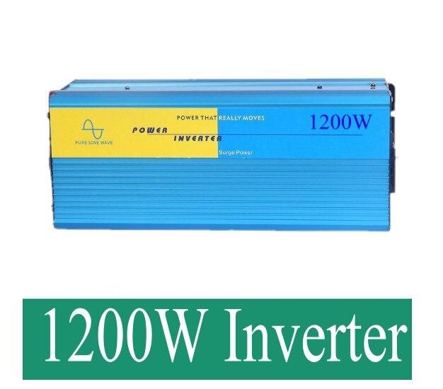 sinus omvormer 1200w inverter pure sine wave max 2400w power DC 12V 24V 48V 110V to AC100V-240V for solar wind home use 5000w pure sinus omvormer pure sine wave inverter 5000w 24v to 120v pv solar inverter power inverter car inverter converter