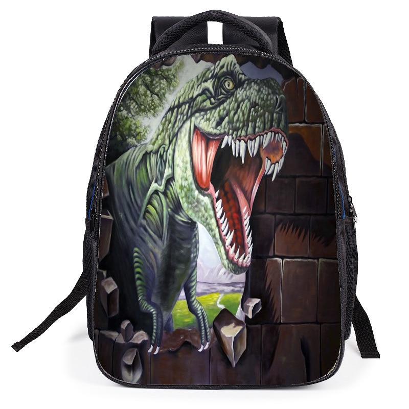 Dinosaur Backpack Kids Schoolbag Cartable Enfant Childrens Back pack To School Printing school-stationery Boy Travel Bag