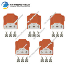5 Sets 3 Pin H4 Plug-in Ceramic Connector, H4 Right Angle Connector, H4 Connector, 7.8 Ceramic H4-2A 24 pcs d sub 15 pin female connector right angle 3 rows