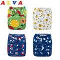 Вы выбираете Alva Baby один размер подходит для всех многоразовых детских тканевых подгузников с 1 вставкой из микрофибры для унисекс
