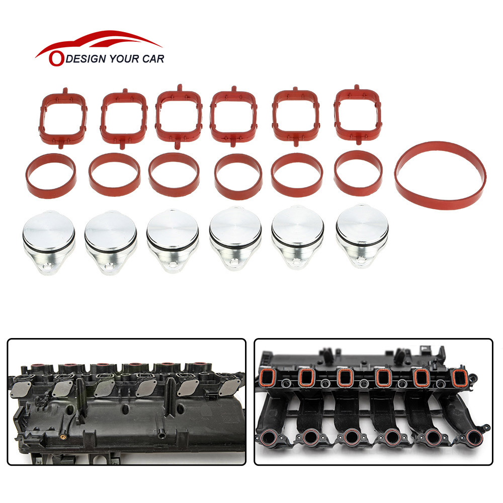 Si a0137 33mm diesel swirl flap blanks replacement bungs with intake manifold gasket for bmw