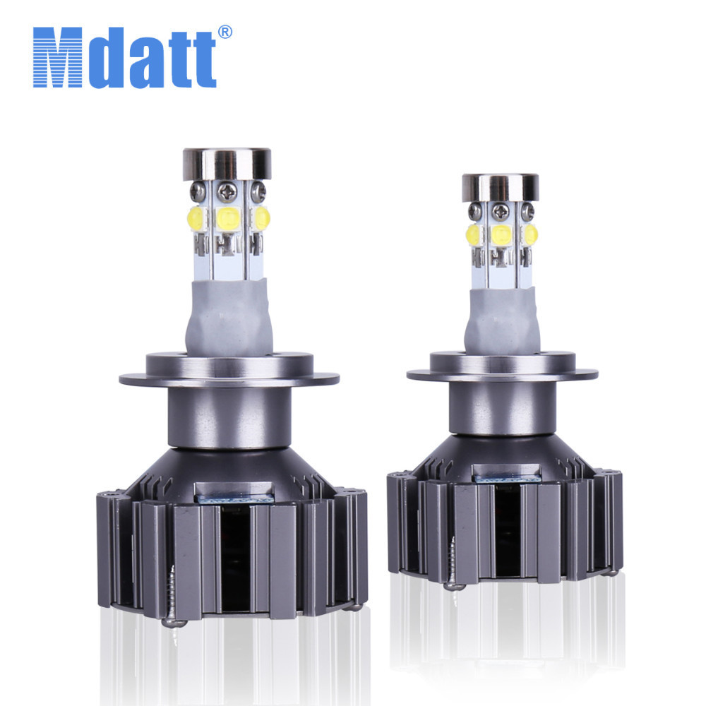 Mdatt Car Headlight Bulb 6000K Led H1 H4 Hi/Lo H7 H11 LED Light 9005/HB3 9006/HB4 80W 8000Lm Car Light 12V Fog Lamp Automobiles car h4 led headlights hi lo 50w 5600lm auto lamp led light bulb 12v light source flip chip 6000k white 3000k yellow
