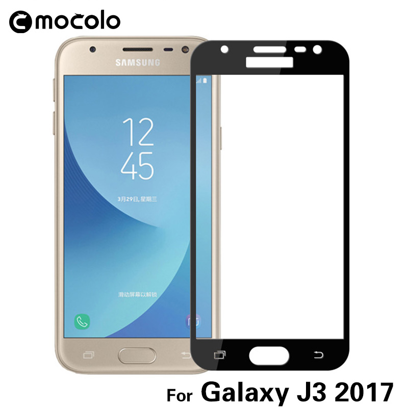 Galleria fotografica Mocolo Full Cover Tempered Glass Screen Protector 9H 2.5D Colorful Protective Film For Samsung Galaxy J3 2017 With Retail Box