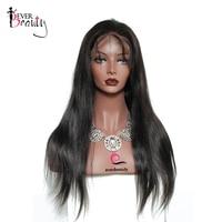 Шелк база Синтетические волосы на кружеве натуральные волосы Парики 130 Плотность бразильский шелковистые прямые Реми предварительно сорва