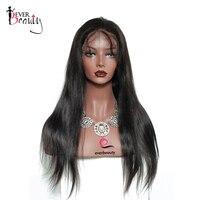 Шелк база Синтетические волосы на кружеве человеческих волос Парики 130 Плотность бразильский шелковистые прямые Реми предварительно сорва