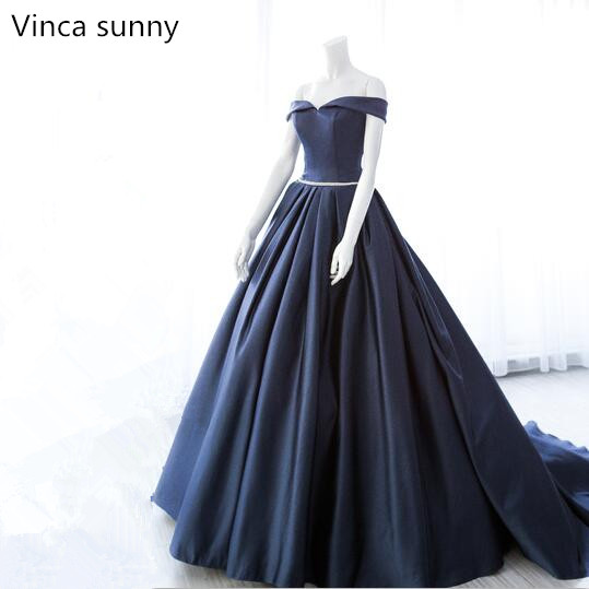 Vinca Sunny New Luxury Satin Long Evening Dress With Belt Sexy