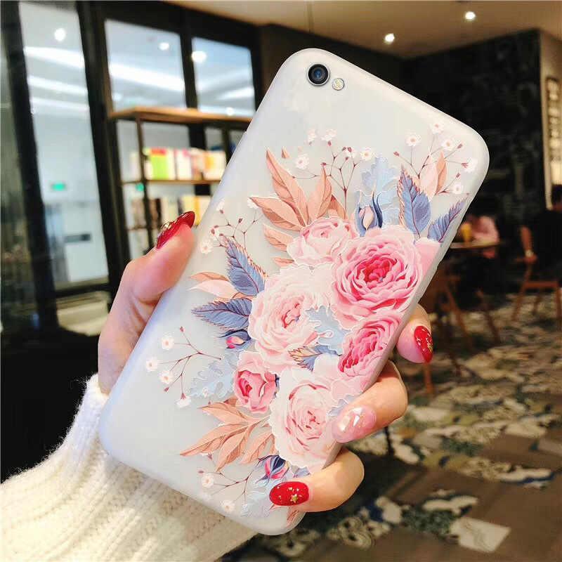 3D Relief Blume Abdeckungen Für auf Xiaomi Redmi K20 Pro S2 Redmi GEHEN Redmi Hinweis 5 6 7 Pro 5A 6A 7A Mi8 Lite silikon weiche Fall Coque