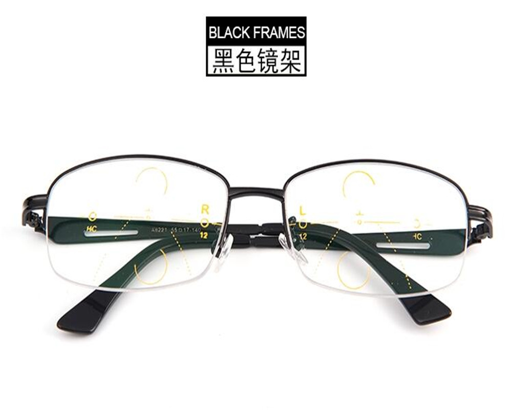 dower me progressive multi focal lens business men half rim light see near far optical eyeglass reading frame jc8221