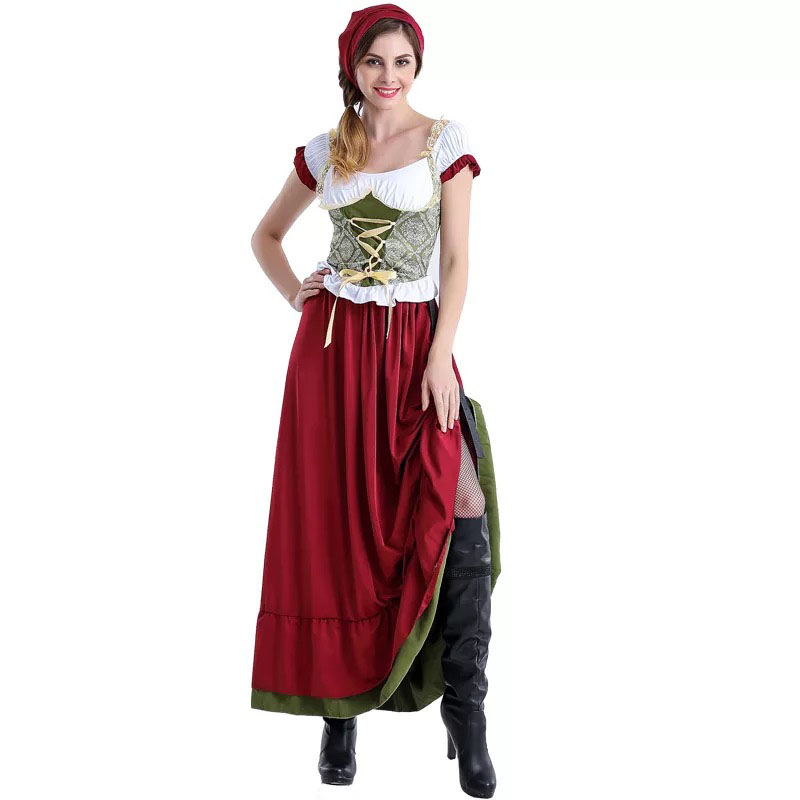Image 2 - Adult Women Bavarian Oktoberfest Dirndl Costume Beer Festival Mardi Gras Ladies Sexy Funny Dress Long Outfit For Girls Plus Size-in Sexy Costumes from Novelty & Special Use