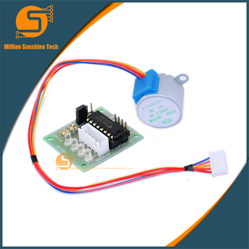 1 Sets 5V 4-Phase Stepper Step Motor + Driver Board ULN2003 With Drive Test Module Machinery Board Free Shipping