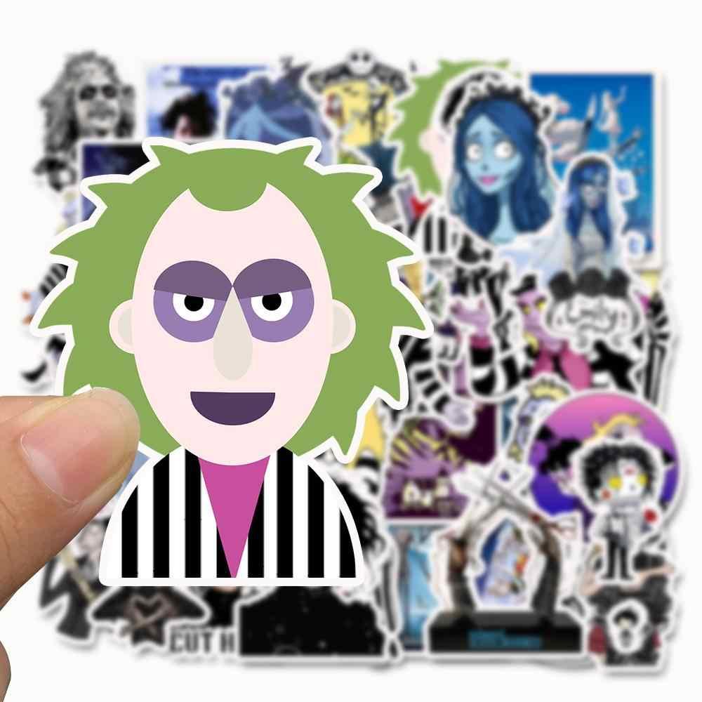 50 pz/lotto di Tim Burton Impermeabile Autoadesivo Del Fumetto Per I Bambini Giocattolo Bagaglio di Skateboard Del Telefono Sul Computer Portatile Moto Della Bicicletta Della Parete Chitarra