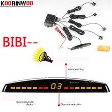 Koorinwoo светодиодный дисплей, автомобильные Датчики парковки, 4 радара, автомобильный Jalousie Parkmaster, автомобильный детектор, Парктроник, сигнализация, черный, белый, серый
