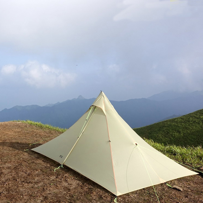 ASTA 2018 high quality 2 side silicone pyramid fly of outdoor camping tent 265*170*135cm