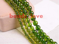 Natural Stone Green Peridot Round Loose Spacer Beads 6 8 10mm Pick Size For Jewelry Making