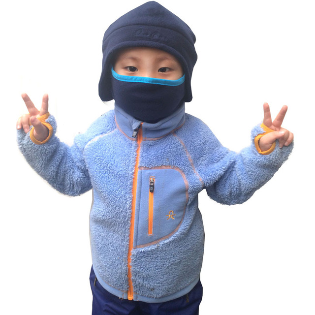 Winter Kids Fleece Jackets Long Sleeve Hooded  Warm Free Shipping 102892