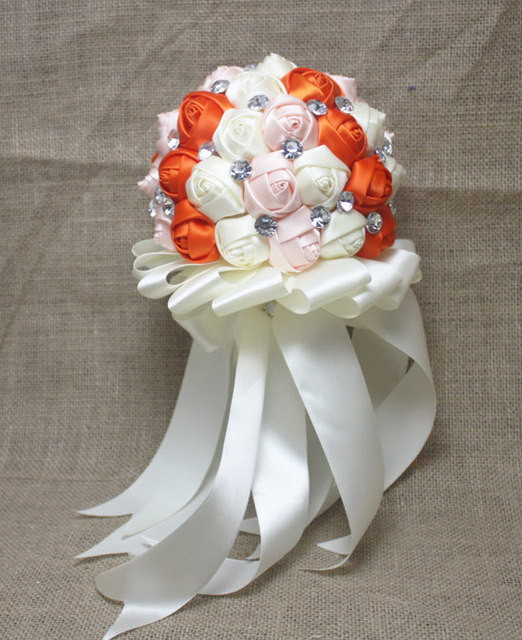 Artificial Flower Crystal Wedding Bouquet Rose bouquet Bride Bouquet Flower Bridal Wedding Bouquet Ramo De Novia